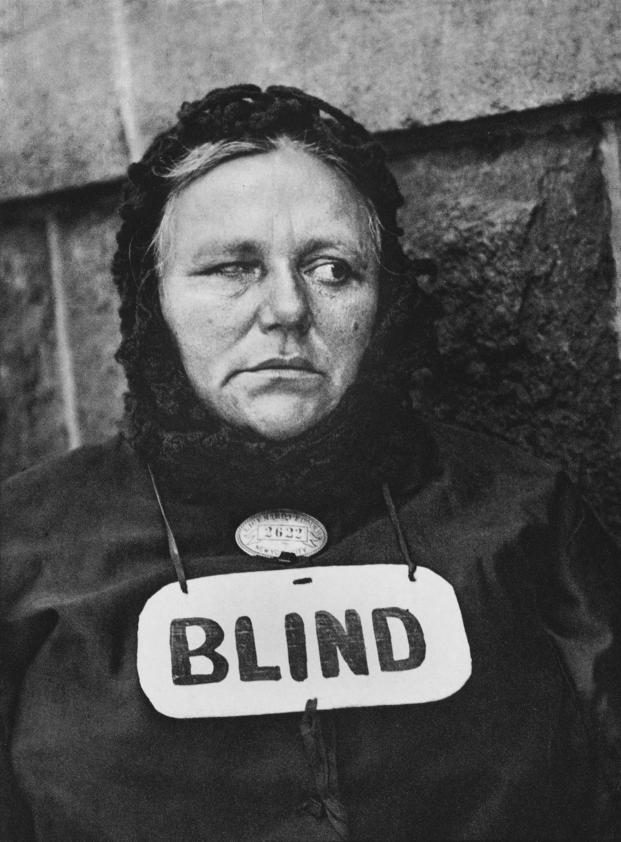 Blind Woman, 1916 - Wombat - The Photography and Art Box