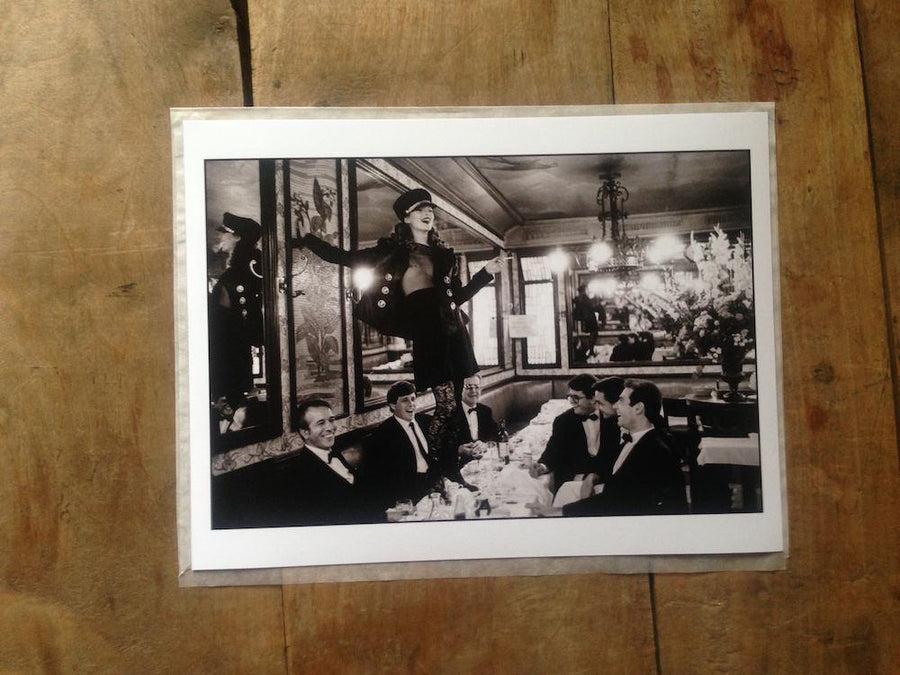 Kate Moss at Café Lipp, Vogue Italia, 1993 - Wombat - The Photography and Art Box