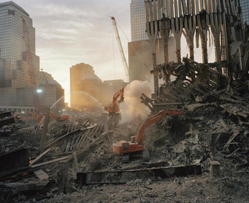 Inside the pile, looking west, NYC 2001 - Wombat - The Photography and Art Box