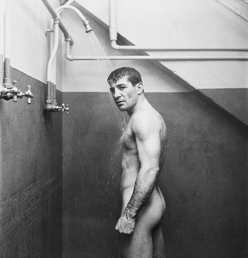 Rocky Graziano showering, 1950 - Wombat - The Photography and Art Box