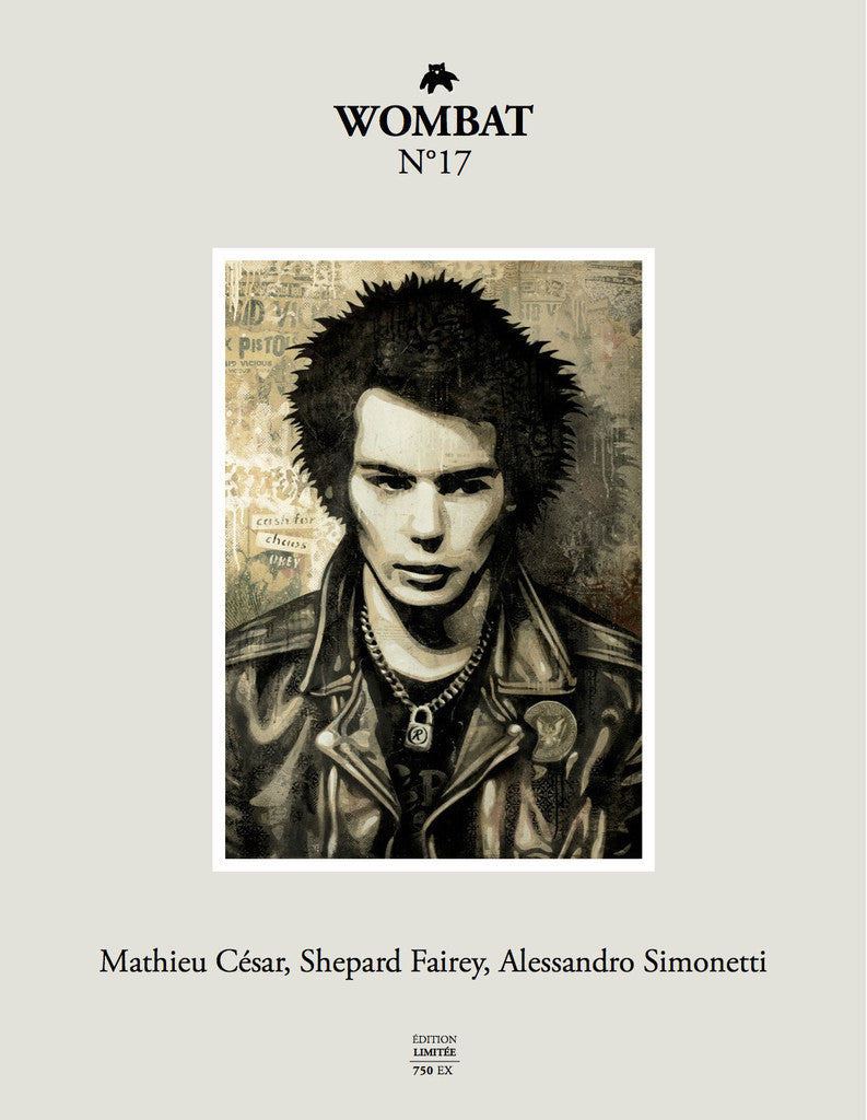 N°17 - Mathieu César, Shepard Fairey, Alessandro Simonetti - Wombat - The Photography and Art Box