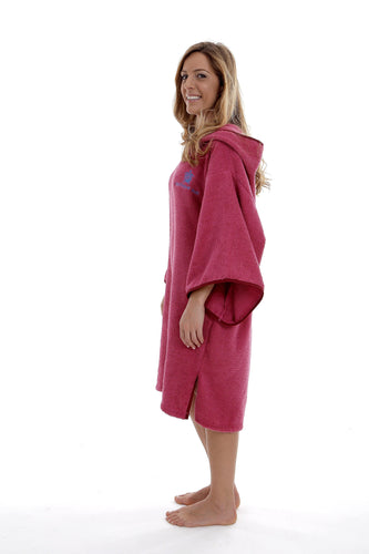 Pacifique Sud - Poncho Surf - Girl -  Rose C/ Mangas