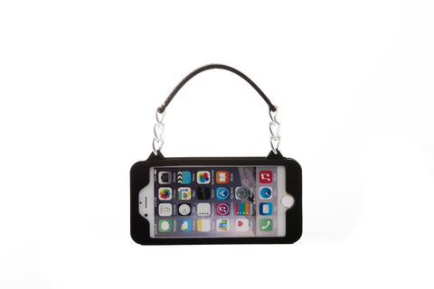 Black with Silver Hardware iPhone 6 Plus/6S Plus Crossbody Bundle Collection