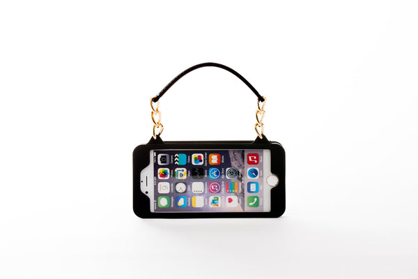 Black with Gold Hardware iPhone 7 Plus Crossbody Bundle Collection