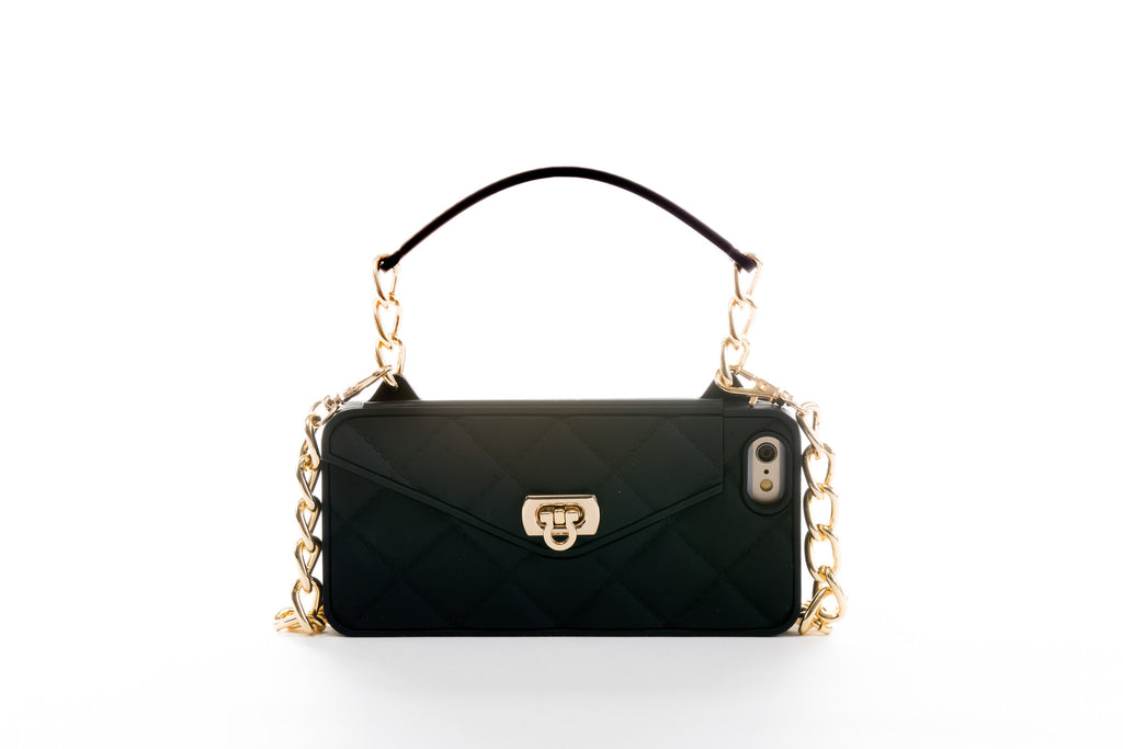 designer fashion bd5c7 2c12a Black with Gold Hardware iPhone 6/6S Crossbody Bundle Collection