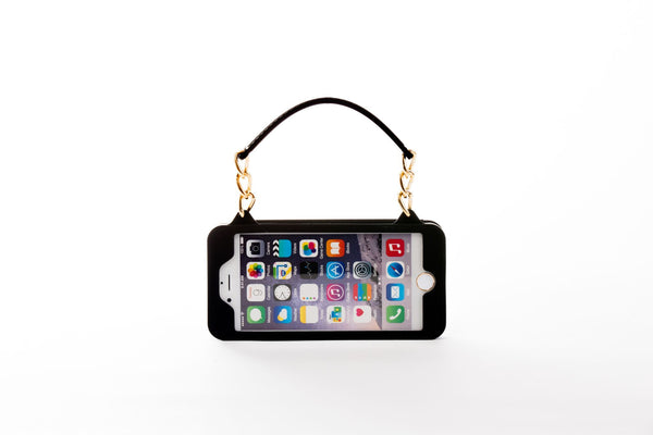 Black with Gold Hardware iPhone 5/5S/5C/5SE Crossbody Bundle Collection