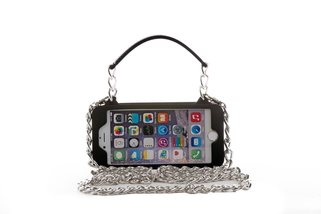 Black with Silver Hardware iPhone 7 Plus Crossbody Bundle Collection ... 69abb6a79699