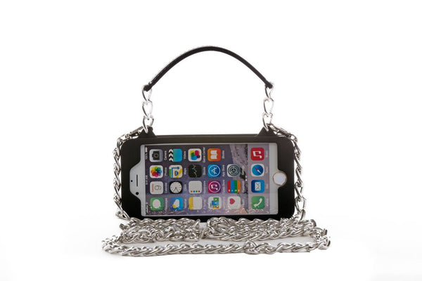 Black with Silver Hardware iPhone 7 Plus Crossbody Bundle Collection