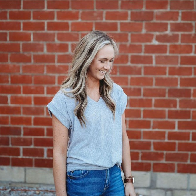 Favorite Basic Top- Grey