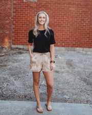 Tie Dye Shorts- Taupe