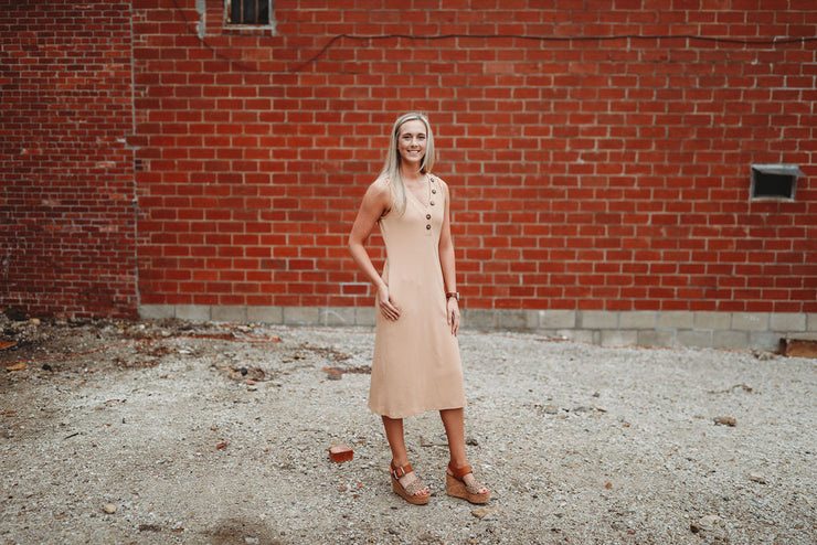 Summer Must Dress- Taupe