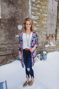 Wont Change My Mind Cardigan-Navy