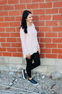Light Rose High Low Sweater