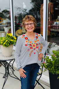 Embroidered Savanna Top