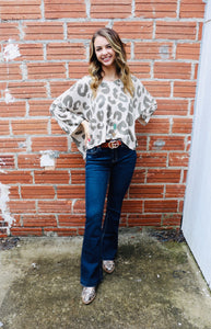 Olive Leopard Sweater