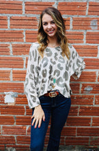 Load image into Gallery viewer, Olive Leopard Sweater