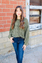 Load image into Gallery viewer, Day to Day Sweater- Olive