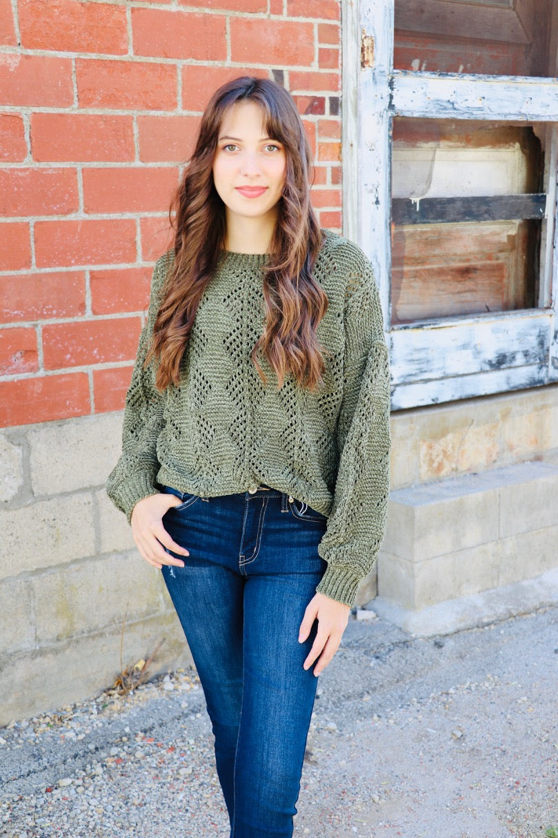 Day to Day Sweater- Olive
