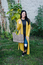 Load image into Gallery viewer, Basic Long Cardigan-Mustard