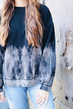 Load image into Gallery viewer, Black Tie Dye Sweatshirt