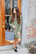 Load image into Gallery viewer, Corduroy Shirt Dress-Olive