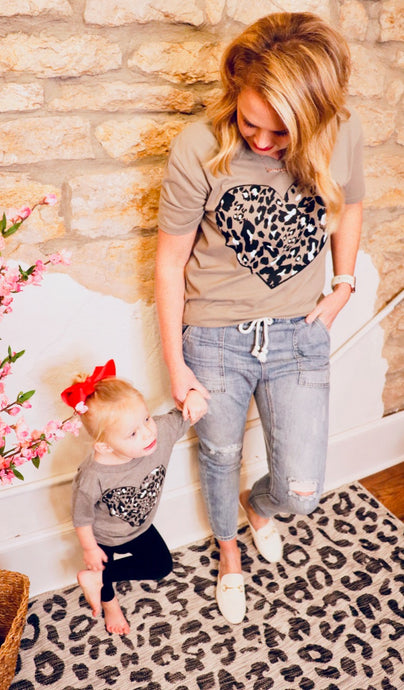 Mommy and Me Leopard Graphic-Women's Sizing (S-2XL)