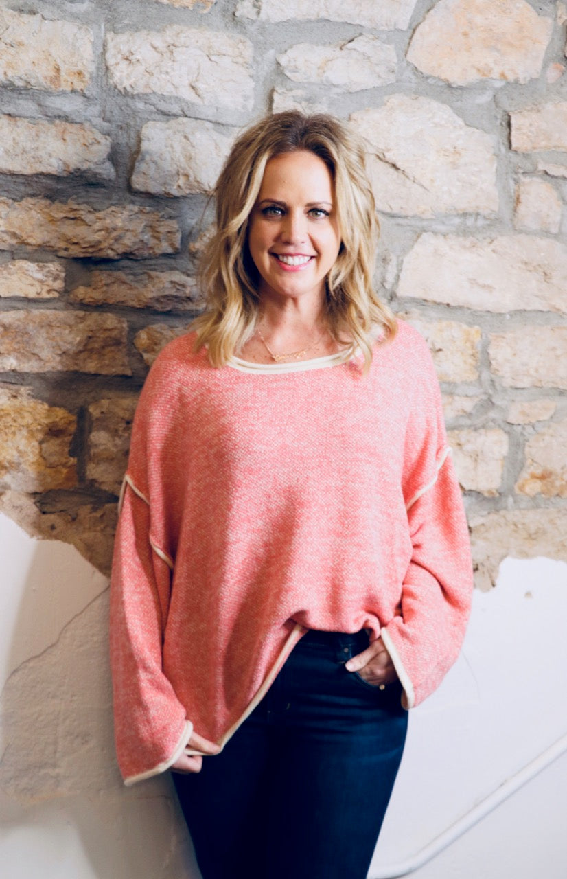Two Tone Top-Pink