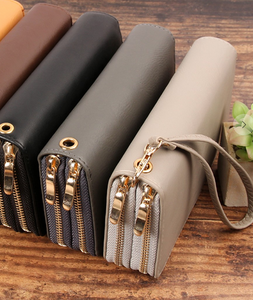 Double Zipper Clutch/Wallet- Black