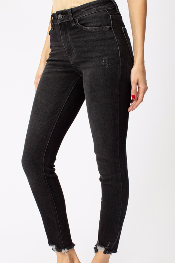 KanCan Black Distressed Denim- Size 7