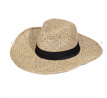 Load image into Gallery viewer, Straw Braided Ribbon Fedora Sun Hat