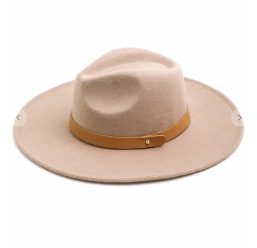Leather Strap Fedora Hat