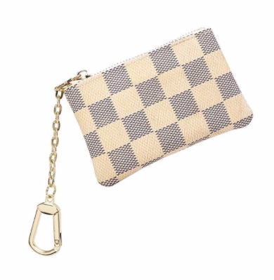 Coin Purse- White Check