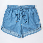 Tencel Drawstring Short- Denim