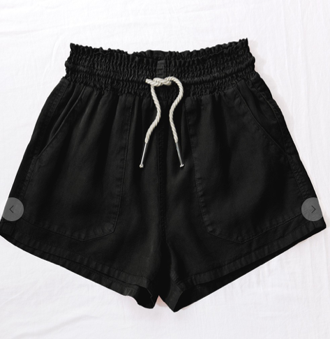 Tencel Summer Short-Black