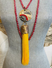 KC Chiefs Necklace- Art by Amy