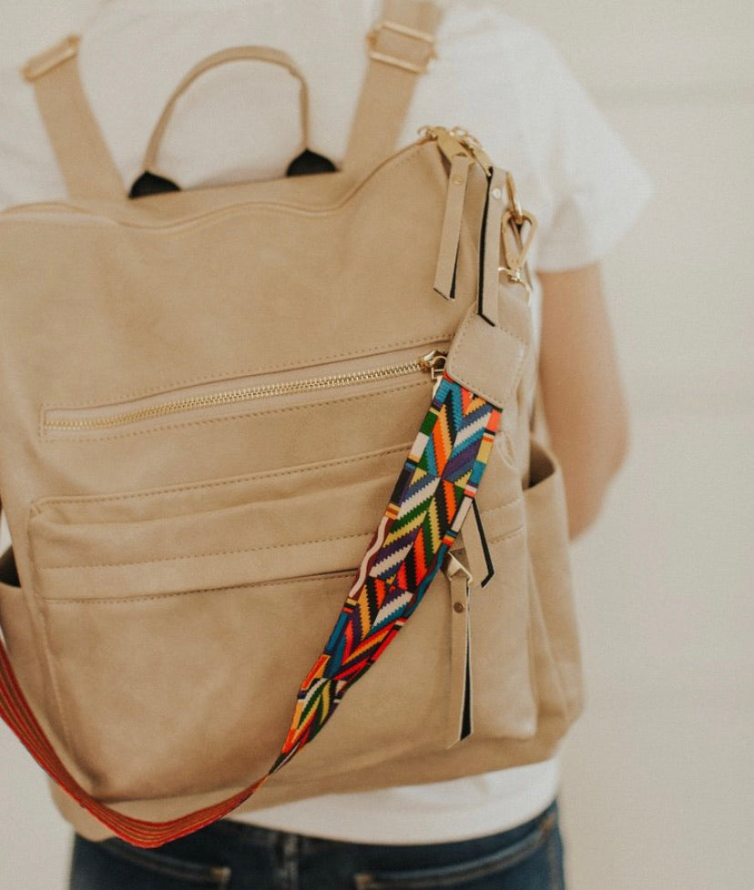 Go Go Girl Backpack-Beige