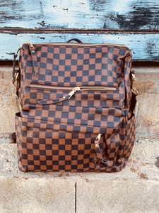 High Flying Backpack- Dark Brown