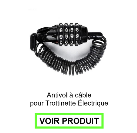 antivol trottinette à cable