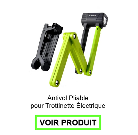 antivol trottinette pliable