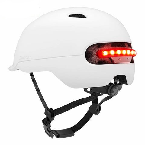 Casque trottinette - casque LED Bl