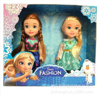 3pcs Frozen Princess Anna Elsa Dolls For Girls Toys Princess Anna Elsa Dolls 8 styles of clothes 16cm Small Plastic Baby Dolls