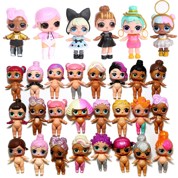 Glitter Original Lols SURPRISE Dolls DIY Ball Puzzle Lols Capsule Girl Toy Surprise Dolls MGA Doll Action Figure Toys Kid Gift