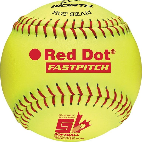 "12"" Softball Canada Red Dot Optic COR47 Fast Pitch Softball"