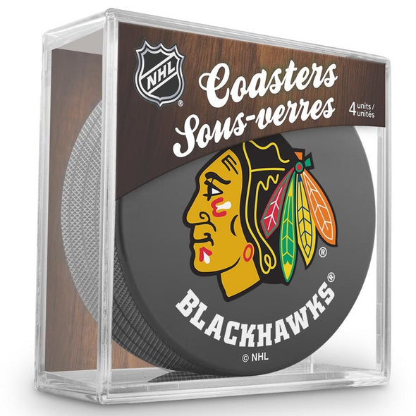 NHL Chicago Blackhawks Coaster Puck Pack