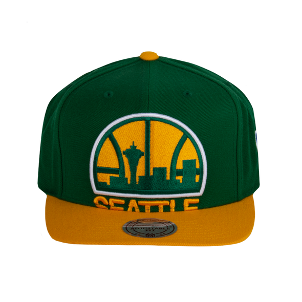 NBA Seattle SuperSonics Cropped XL Logo Snapback Cap