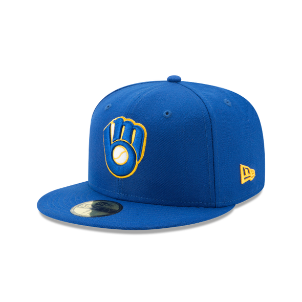 MLB Milwaukee Brewers Authentic Collection 59FIFTY Fitted On-Field Home Cap