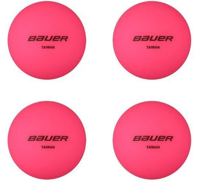 No Bounce Street Hockey Ball - Cool Weather 4 Pack