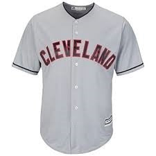 Men's MLB Cleveland Indians Replica Cool Base Home Jersey
