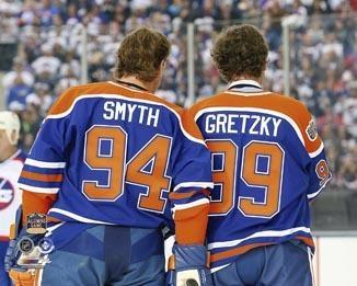 NHL Edmonton Oilers Ryan Smyth & Wayne Gretzky 8x10 Photo