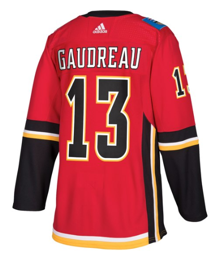 Men's NHL Calgary Flames Johnny Gaudreau Authentic Player Home Jersey
